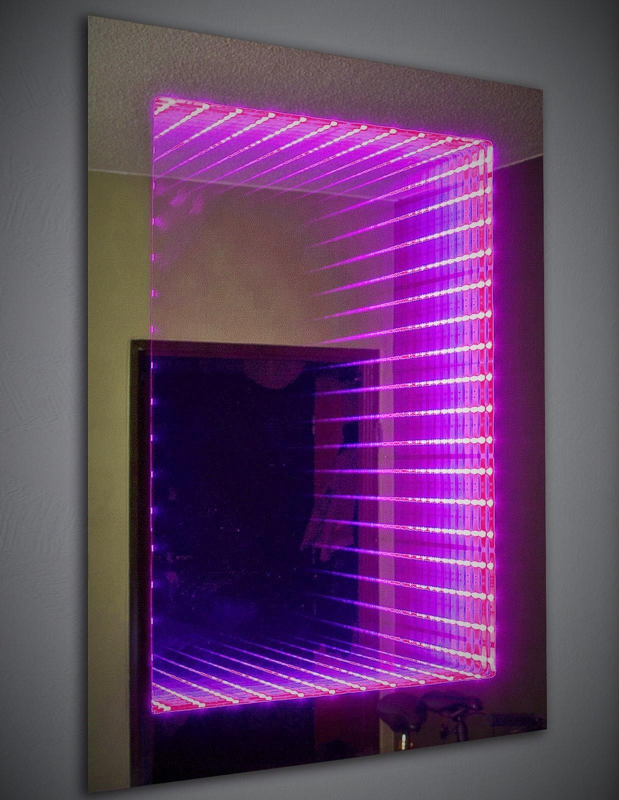 Infinity Mirror Lila LED