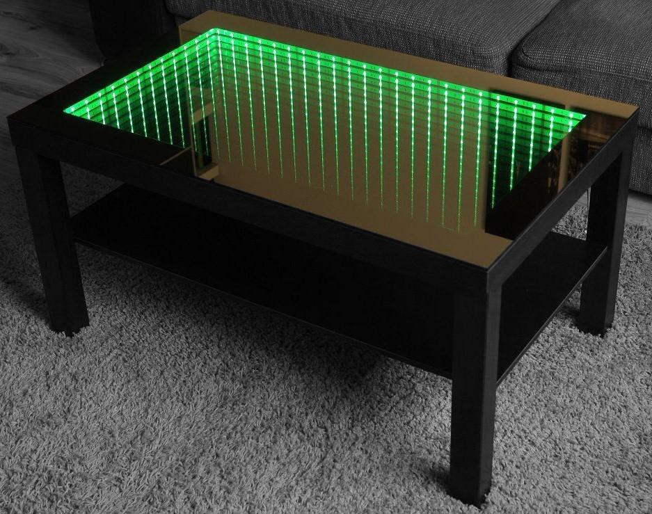 Infinity Mirror Tisch Grün LED