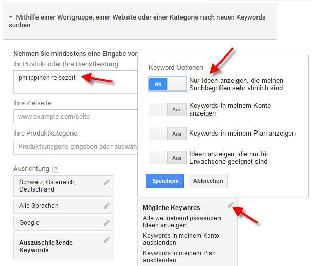 Keyword Recherche Detailliert