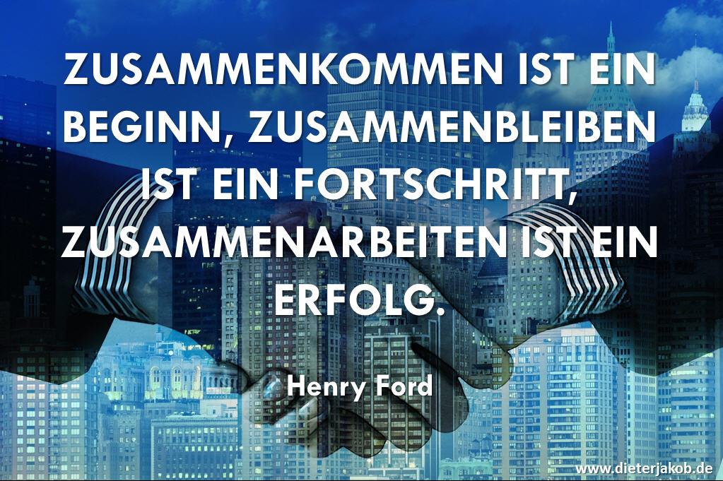 Spruch Zusammenarbeit und Erfolg - Henry Ford